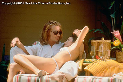 George Jung Johnny Depp and Penelope Cruz in New Line's Blow - 2001