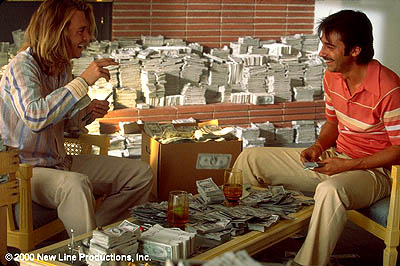 George Jung Johnny Depp and Jordi Molla in New Line's Blow - 2001