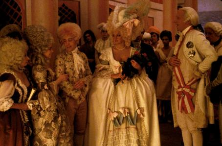 Elizabeth Berridge Barbara Bryne, , Tom Hulce, Christine Ebersole and Jeffrey Jones in Amadeus - 1984