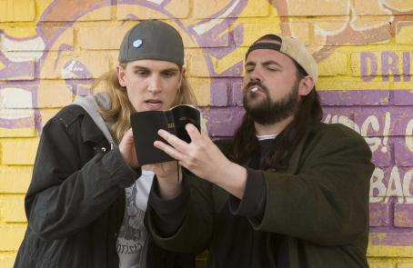 Kevin Smith Jason Mewes and  reprise their roles as Jay and Silent Bob in 's Clerk II. Photo courtesy of The Weinstein Company/Darren Michaels, 2006.