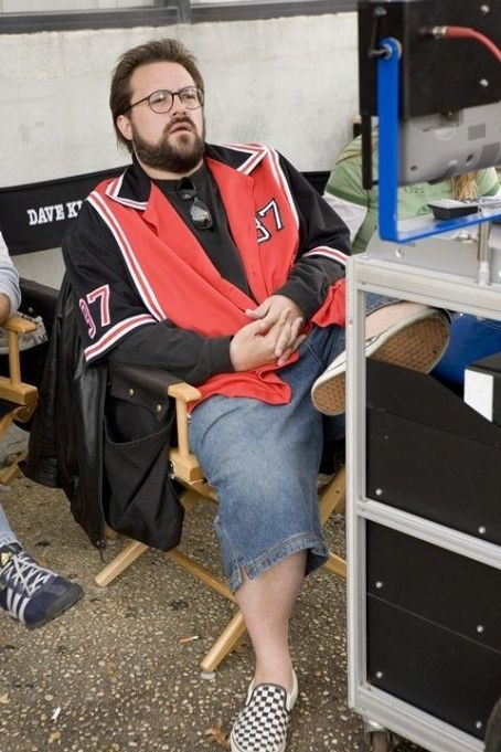 Kevin Smith , director and star of Clerks II on set. Photo courtesy of The Weinstein Company/ Darren Michaels, 2006.