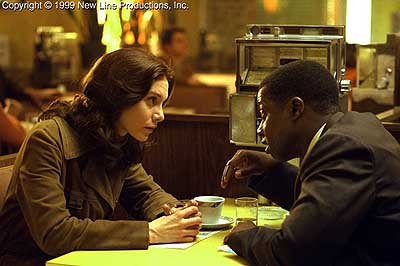 Andre Braugher Elizabeth Mitchell and  in New Line's Frequency - 2000