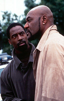 Isaiah Washington  and Delroy Lindo in Warner Brothers' Romeo Must Die - 2000