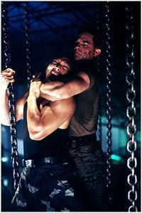 Jason Scott Lee  and Kurt Russell in Warner Brothers' Soldier - 1998
