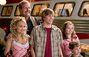 Alex Ferris Kristin Chenoweth, Jeff Daniels, Hunter Parrish, Chloe Sonnenfeld and  in Columbia Pictures' RV - 2006