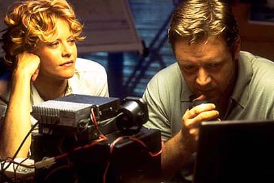 Proof of Life Meg Ryan and Russell Crowe in Castle Rock's Proof Of Life - 2000