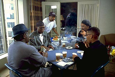 D.L. Hughley Cedric The Entertainer, Bernie Mac, Spike Lee, Steve Harvey and  in Paramount's The Original Kings of Comedy - 2000