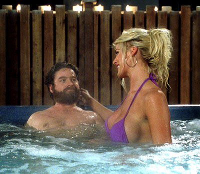 Zach Galifianakis  and Victoria Silvstedt in Touchstone's Out Cold - 2001