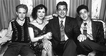 Joe Mantegna Ben Foster, Bebe Neuwirth,  and Adrien Brody in Warner Brothers' Liberty Heights - 11/99