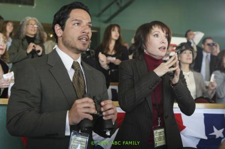 Nana Visitor Greg Serano ('Pablo,' left) and  ('Jean,' right) star in Lionsgate Home Entertainment's Wildfire: Season Two.