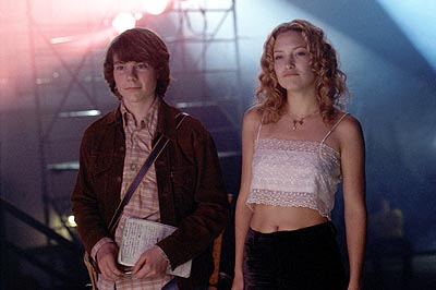 Penny Lane William (Patrick Fugit) is thrilled to be backstage at the Stillwater concert with 'band aid'  (Kate Hudson) in Dreamworks' Almost Famous - 2000
