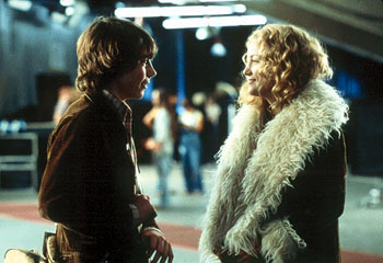 Penny Lane Patrick Fugit and Kate Hudson in Dreamworks' Almost Famous - 2000