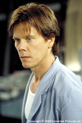 Hollow Man Kevin Bacon stars as highly gifted scientist Sebastian Caine, who develops a serum for invisibility and recklessly disregards Pentagon orders to test it on himself in Columbia's  - 2000
