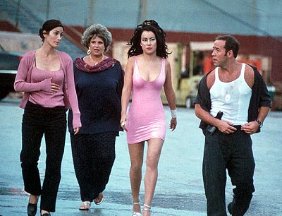 Lainie Kazan Carrie-Anne Moss, , Jennifer Tilly and Jeremy Piven in Touchstone's The Crew - 2000