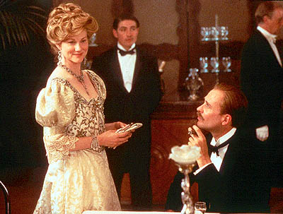 Terry Kinney Laura Linney as Bertha Dorset and  as George Dorset in Sony Pictures Classics' The House of Mirth - 2000