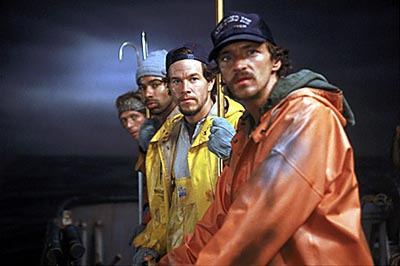 Allen Payne William Fichtner, , Mark Wahlberg and John Hawkes in Warner Brothers' The Perfect Storm - 2000