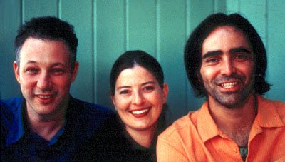 Justine Shapiro Directors B.Z. Goldberg,  and Carlos Bolado in Cowboy Pictures' Promises - 2002