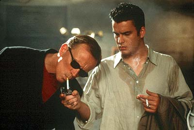 Peter Weller  and Balthazar Getty in Newmark Films' Shadow Hours - 2000