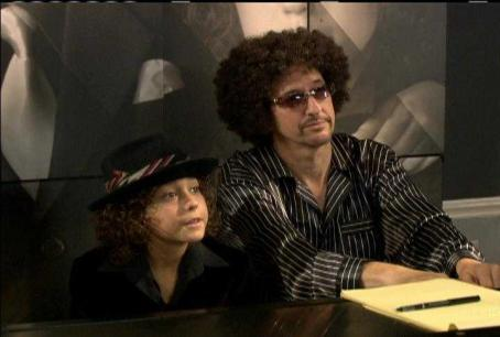 Alex Wolff Alex () and uncle Miles in the scene of The Naked Brothers Band.