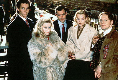 American Psycho Christian Bale, Reese Witherspoon, Justin Theroux, Samantha Mathis and Matt Ross in Lions Gate's  - 2000