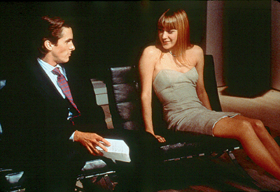 American Psycho Christian Bale and Chloe Sevigny in Lions Gate's  - 2000