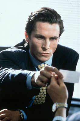 American Psycho Christian Bale as Patrick Bateman in Lions Gate's  - 2000