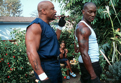 Ving Rhames  and Tyrese Gibson in Columbia's Baby Boy - 2001