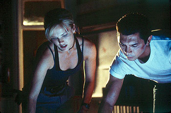 Lou Diamond Phillips Dina Meyer and  in BATS - 10/99