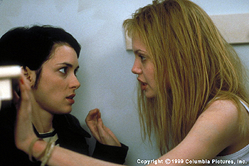 Girl, Interrupted The Columbia Pictures presentation GIRL, INTERRUPTED (12/99), starring Winona Ryder (left) and Angelina Jolie, questions the boundaries of freedom and confinement, friendship and betrayal and madness and sanity at a time when it seemed the whole world mig