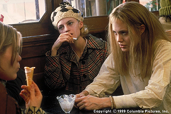Girl, Interrupted The Columbia Pictures presentation GIRL, INTERRUPTED (12/99) is the true story of troubled young women like Clea Duvall (left), Angela Bettis (center) and Angelina Jolie, who are trying to make sense of themselves and the world in the changing landscape o