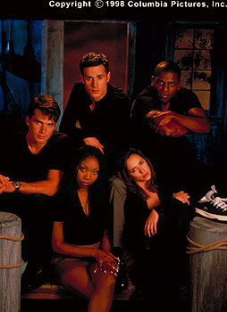 Matthew Settle Clockwise from top left - , Freddie Prinze Jr., Mekhi Phifer, Jennifer Love Hewitt and Brandy in Columbia's I Still Know What You Did Last Summer - 1998