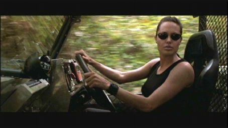 Lara Croft Angelina Jolie plays  in Paramount's : Tomb Raider, also starring Jon Voight - 2001