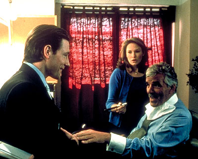 Nadia Dajani Edward Burns,  and Dennis Farina in Paramount Classics' Sidewalks of New York - 2001