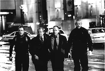 Ron Rifkin Kevin Spacey, John Spencer,  and David Morse in Warner Brothers' The Negotiator - 1998