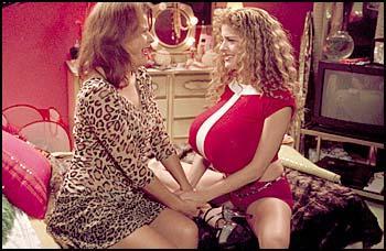 Tracey Ullman Sylvia and Caprice share a mother-daughter moment.