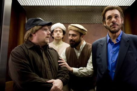 Robert Davi Kevin P. Farley as Michael Malone, Geoffrey Arend as Mohammed, Serdar Kalsin as Ahmed and  as Aziz in An American Carol.