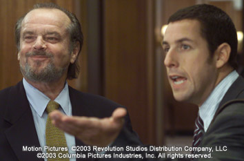 Anger Management Jack Nicholson and Adam Sandler in Columbia's  - 2003
