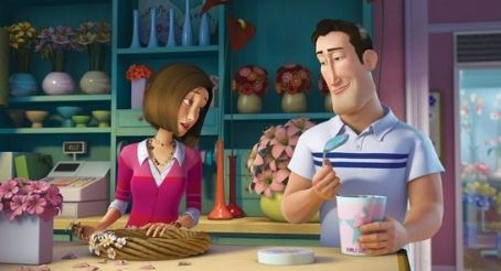 Patrick Warburton (Left to right) Vanessa (RENÉE ZELLWEGER) tries her best to disregard the interruption to her work by wannabe boyfriend Ken (PATRICK WARBURTON) in DreamWorks' BEE MOVIE, to be released by Paramount Pictures in November 2007.