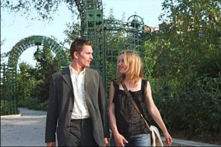 Before Sunset Ethan Hawke and Julie Delpy star as Jesse and Celine in Richard Linklater's BEFORE SUNSET, a Warner Independent Pictures release.