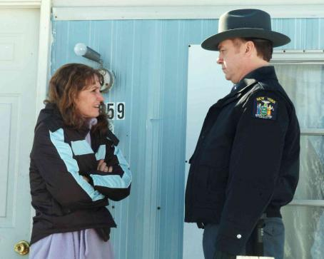 Michael O'Keefe Left: Melissa Leo as Ray Eddy; Right: Michael O'Keefe as Trooper Finnerty. Photos by Jory Sutton © 2007 Frozen River Productions, LLC.  Courtesy Sony Pictures Classics.
