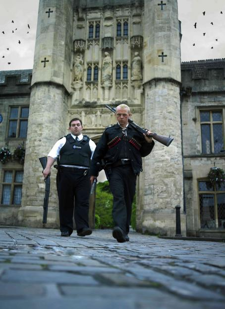 Hot Fuzz Danny (Nick Frost) and Angel (Simon Pegg) in Rogue Pictures'  - 2007