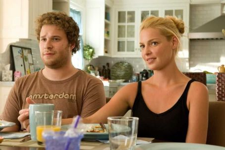 Knocked Up Seth Rogen as Ben Stone with Katherine Heigl as Alison Scott in Universal Pictures'  - 2007