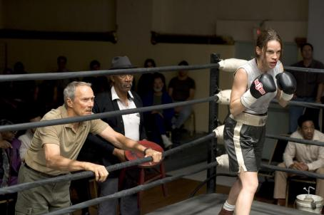 Maggie Fitzgerald Clint Eastwood as Frankie and Hilary Swank as Maggie in Warner Bros. Pictures' drama Million Dollar Baby. The Malpaso production also stars Morgan Freeman. Merie W. Wallace