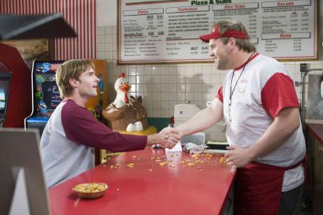 "Ethan Suplee Seann William Scott (left) stars as ""John Farley"" and  (right) stars as ""Nedderman"" in New Line Cinema's release of David Dobkin's MR. WOODCOCK. Photo Credit: ©2007 Richard Cartwright/New Line Cinema"