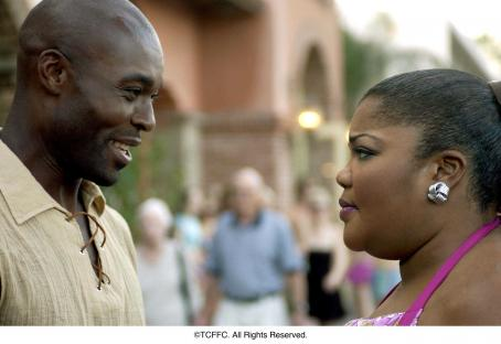 Jimmy Jean-Louis  as Tunde Jonathan and Mo'Nique as Jazmin Biltmore in director Nnegest Likké's Phat Girlz, Fox Searchlight Pictures release.