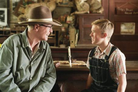 Secondhand Lions Michael Caine (left) as 'Garth' and Haley Joel Osment (right) as 'Walter' in New Line Cinema's upcoming film .