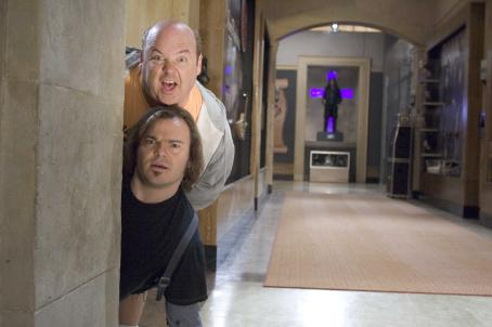 "Kyle Gass (top to bottom)  stars as ""KG"" and Jack Black stars as ""JB"" in New Line Cinema's upcoming comedy Tenacious D in: The Pick Of Destiny. Photo Credit: 2006 Zade Rosenthal/New Line Productions"
