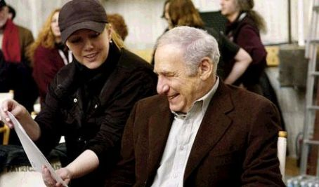Mel Brooks On the set of Susan Stroman's 2005 comedy The Producers