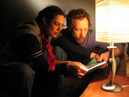 Kris Holden-Ried Camelia Frieberg directs Kristen Holden-Ried in A Stone's Throw. Photo by Garfield Lindsay Miller.