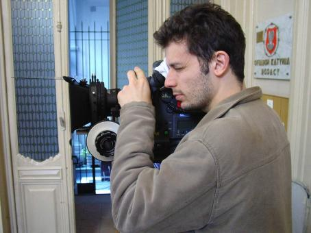Family Law Director Daniel Burman on a set  - 2006